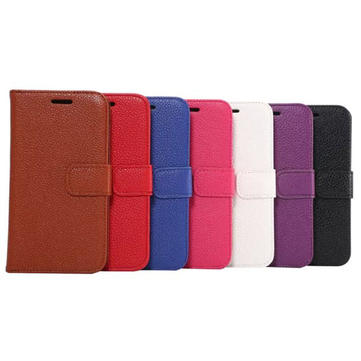 Litchi Grain Leather PU Flip-open Case For Samsung Galaxy S6 Edge