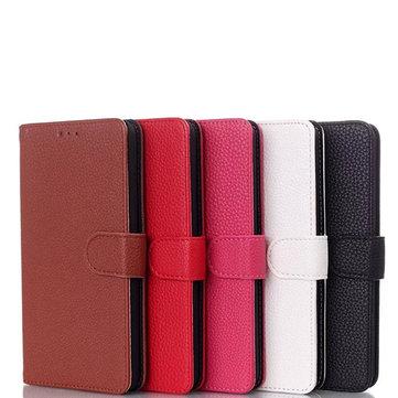 Litchi Grain Leather Flip Stand Cover Case For HTC Desire 816