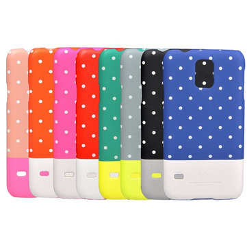 Kajsa Polka Dots Pattern Noctilucent Hard Case For Samsung S5 I9600