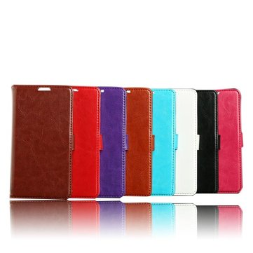 Sheep Grain Wallet Printing Leather Cover For Samsung I9600 S5