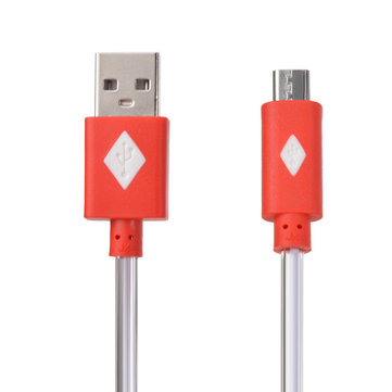 1M LED Light USB Data Charging Cable Micro Cable for Cell Phone