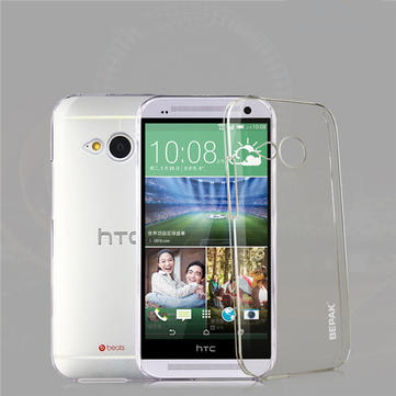 Plastic Protective Back Case For HTC M8 Mini With Screen Protector