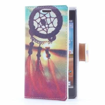 Colorful Painting Leather Case With Insert Card For LG P705 Optimus L7
