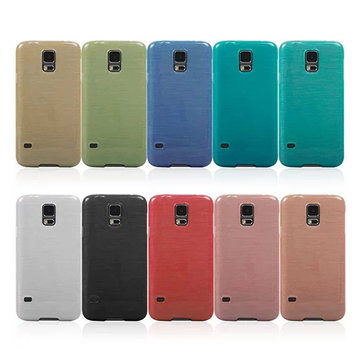 Stylish TPU Soft Wire Drawing Cover Case For Samsung Galaxy S5 I9600