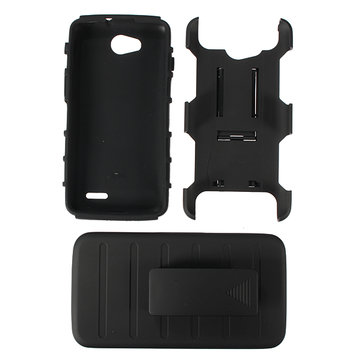 Hybrid Hard Case Slide Cover Clip Holster For LG Optimus L90 D410 D405