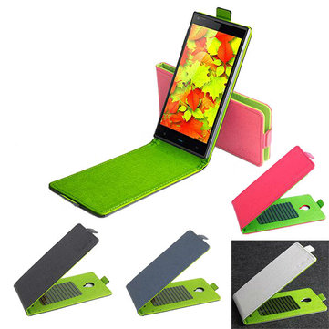 Hit Color Flip PU Leather Protective Case For Doogee DG550 DG550e