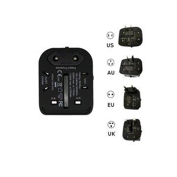 Protection de foudre d'eu/us/uk/au adaptateur de montée de multifonction d'usb double