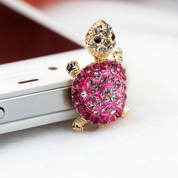 3.5mm Cute Diamond Headphone Jack Dustproof Plug Random Delivery