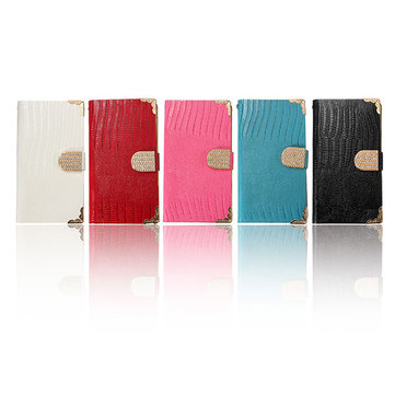 Diamond Wallet Flip Leather Card Case For Samsung Galaxy Note 4