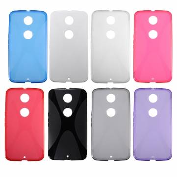 X Line Soft TPU Back Case Cover For Motorola Google Nexus 6