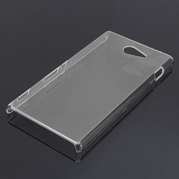 Clear Ultra Slim Durable PC Hard Case For Sony Xperia M2 S50H