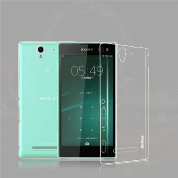 BEPAK Clear Transparent Protective Back Case For Sony Xperia C3 S55T