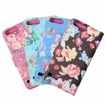 Flower Wallet Flip Leather Card Case For Huawei Ascend G6 4G