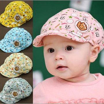 Cute Baby Boys Girls Soft Cotton Baseball Cap Summer Hat Beret Caps