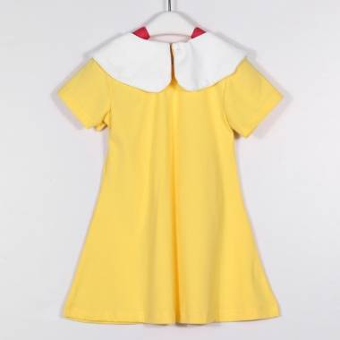 Summer Baby Girls College Styles Pricess Lapel Doll Collar TUTU Dress