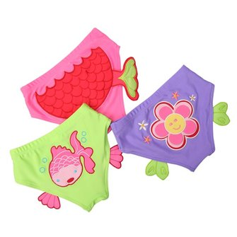Baby Kid Child Cartoon Triangle Swim Diapers Swimwear Girls Trunks