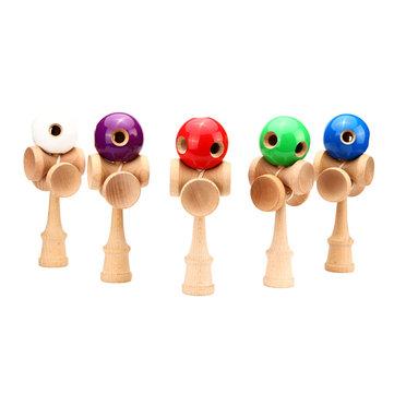 Çocuk Çocukları 5 Delikler Kendama Oyuncak Barı Geleneksel Oyun Beceri Oyuncakları
