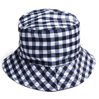 Summer Baby Kid Girl Boy Wide Brim Plaid Cap Sun Hat Sun Cap