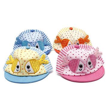 Summer Kid Infant Baby Boy Fish Cartoon Hat Sun Cap Baseball Hat