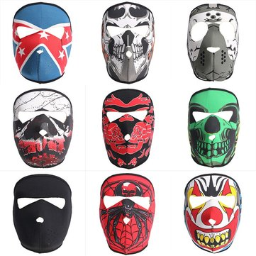 Full Face Mask Motorcycle Reversible Biker Skateboard Scary Sports Neoprene