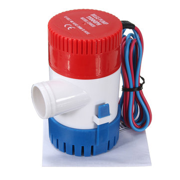 1100GPH 12V Submersible Marine Boat Electric Bilge Water Pump Low Pressure Pump
