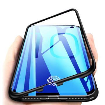 Bakeey Magnetic Adsorption Aluminum Tempered Glass Protective Case for Samsung Galaxy S10e/S10/S10 Plus