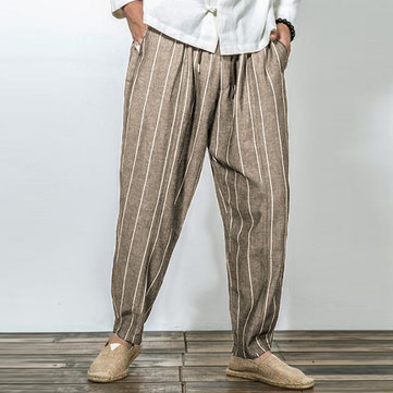Men Casual Cotton Baggy Harem Pants