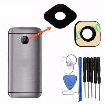 Camera Lens Film Lens Cover Rear Camera Cover Chassis Kit for HTC ONE M9