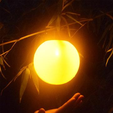 Solar Powered Light Control Waterproof Ball Shaped Flame Hanging Light for Garden Landscape Decor