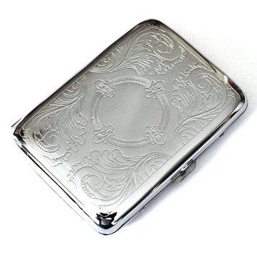 Honana NB-CB01 Çelik Paslanmaz Sigara Kılıf Gümüşten Dayanıklı Çift Taraflı Sigara Kutu