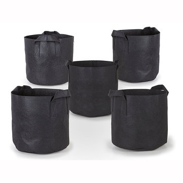 Garden Grow Bag 5 10 20 Gallon Aeration Black Fabric Pots with Handles Flower Planters Bags