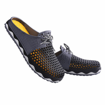 IPRee™ Plus Size Outdoor Men's Hollow Slippers Breathable Sandals Summer Casual Lazy Beach Shoes