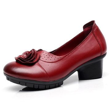 Leather Vintage Shoes For Women