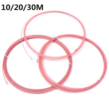 3.5mm Pink Electrician Conduit Wire Cable Puller Ducting with Wheel 10/20/30M