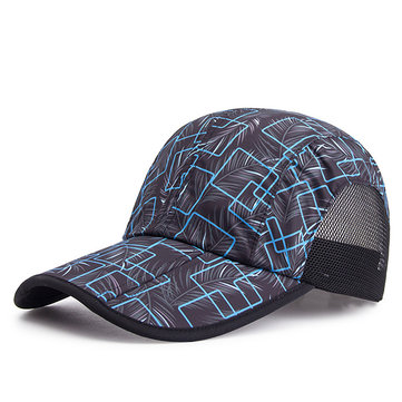 Unisex Printing Folding Baseball Cap Outdoor Sport Mesh Breathable Visor Hats for Men Women