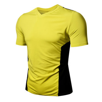 Summer Cotton V Neck Color Block Casual T-shirts for Men
