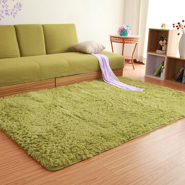 80x120cm Fluffy Anti Skid Shaggy Floor Mat Door Sill Rug Home Bedroom Dining  Room Carpet