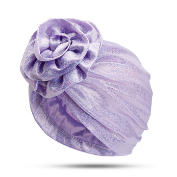 Women Polyester Turban Hat Floral Breathable Chemo Caps