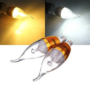 E12 4.5W 500-550lm White/Warm White LED Candle Light Bulb 85-265V