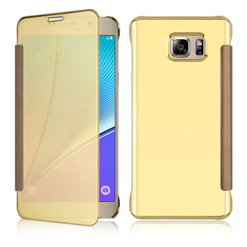 Bakeey Plating Mirror Smart Sleep Flip Case for Samsung Galaxy Note 5