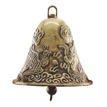 60x65mm Antique Golden Cow Bell NosieMaker Zinc Alloy Animal Sheep Dog Bell Cowbell Decorations