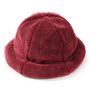 Women Winter Thick Warm Cashmere-like Bucket Cap