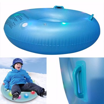Inflatable LED Flash Ski Circle Snow Tube for Kids Skiing Thickened Size Circle Snow Water Ski