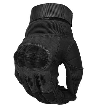 Hunting Tactical Outdoor Sports Full Finger PU Leather Anti Skid Gloves