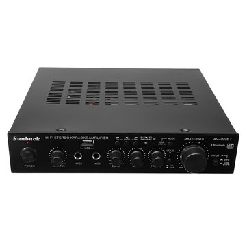 Sunbuck AV-299BT 200W HIFI Bluetooth Stereo Power Amplifier Remote Control USB FM Mic Input