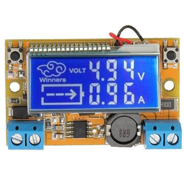 Winners® DC-DC 5-23V to 0-16.5V 3A Step Down Power Supply Adjustable Buck Module With LCD Display Without Housing Case