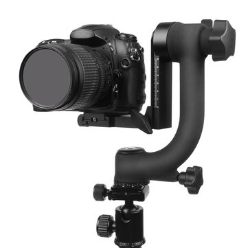 SHOOT XT-359 360 Degree Panoramic Gimbal Tripod Head with Standard 1/4inch Quick Release Plate Bubble Level for Digital SLR Cameras for Canon for Nikon for Sony