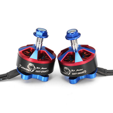 Brotherhobby Returner R5 2207 2400KV 2700KV 4-5S Brushless Motor Al 7075 Case with 16cm Wire