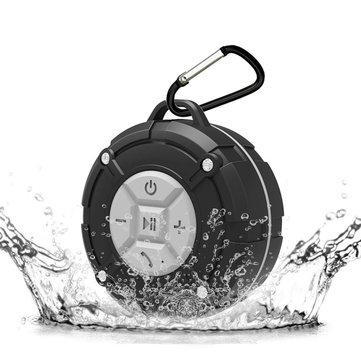 Loskii BR-40 Bathroom Wireless Hand-free Waterproof IPX7 bluetooth 4.2 Portable Speaker with Suction Cup Speakerphone