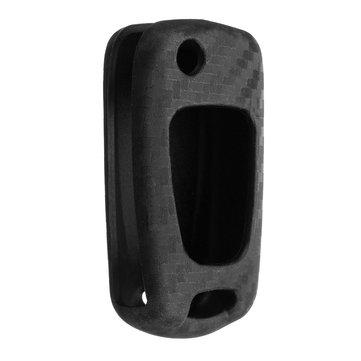 3 Button Carbon Fiber Style Silicone Remote Key Case For Hyundai I20 I30 IX35